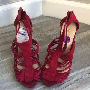 BCBG Strappy Red Heels